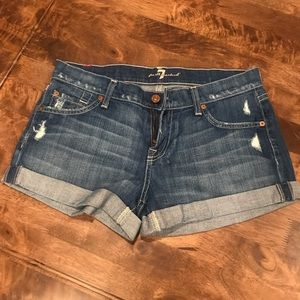 7 For All Mankind Women's Jean Shorts